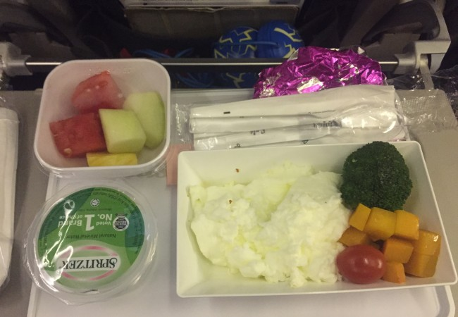 Plane food, diabetic plane meal, egg white omelette